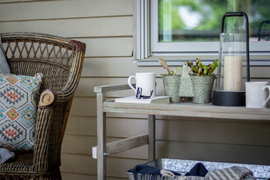 cozy decor for summer porch