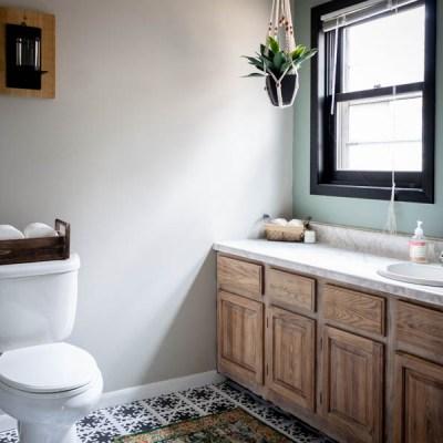 Budget Friendly Modern Rustic Master Bathroom Reveal