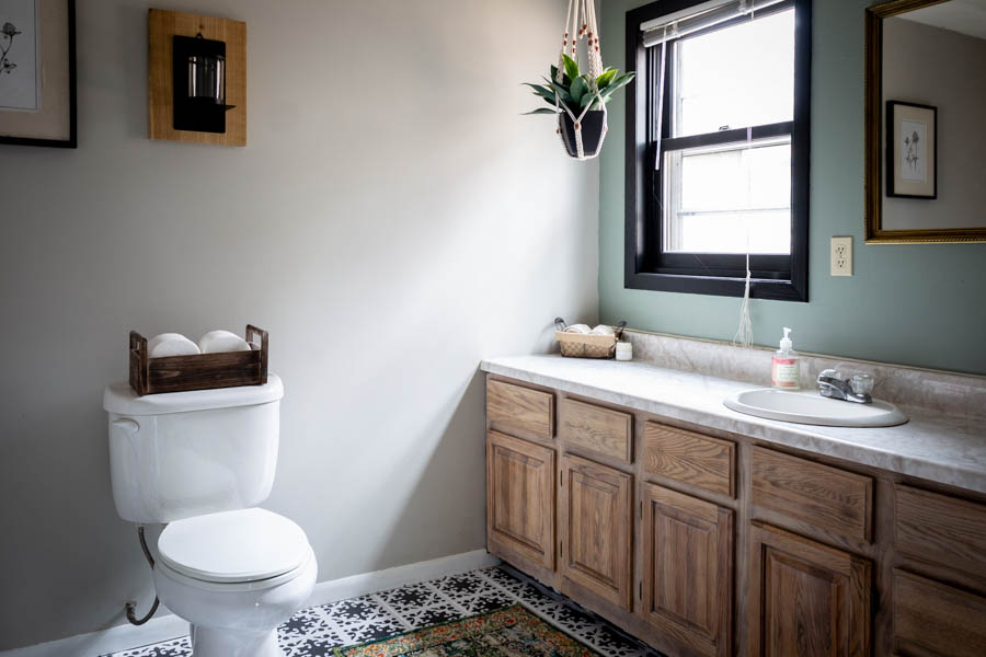 Budget Friendly Modern Rustic Master Bathroom Reveal