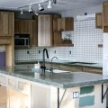 How to DIY a Kitchen Concrete Counter Top   DIY counter tutorial from North Country Nest #northcountrynest #kitchencounter #concretecounter
