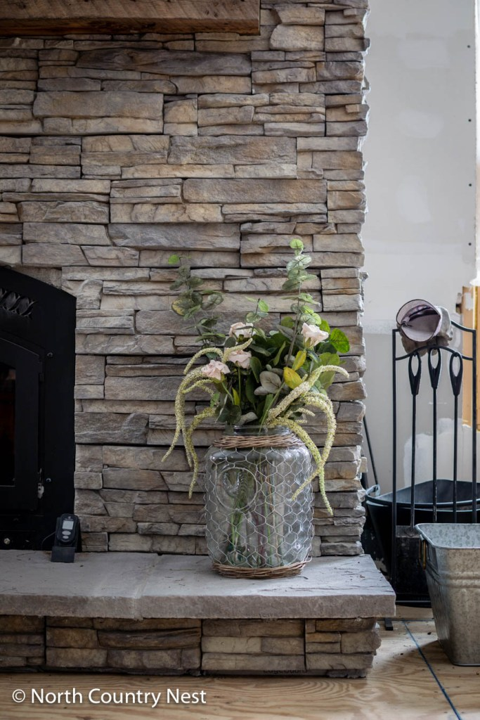 Spring Fireplace Decor