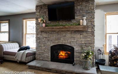 Styling the Fireplace Mantle for Spring
