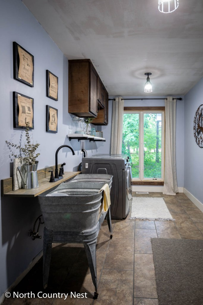 Rustic Industrial Laundry Room | North Country Nest