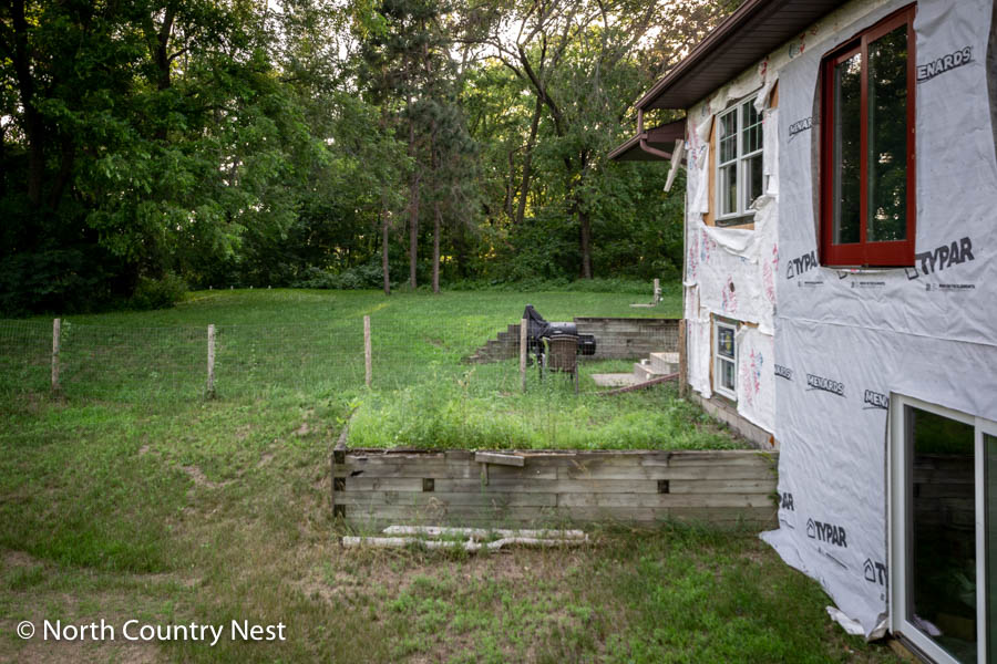Railroad Ties Retaining Wall | North Country Nest