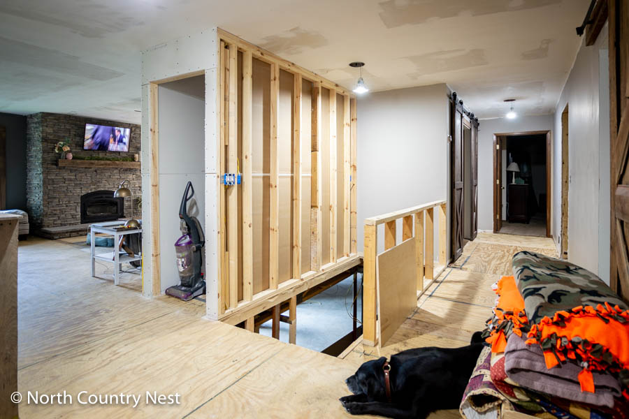 Linen Closet Mid-Renovation | North Country Nest