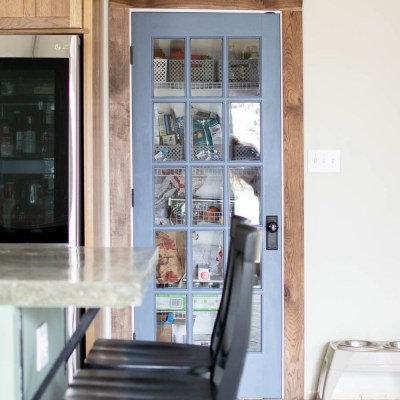 Glass Pantry Door Makeover for the Kitchen