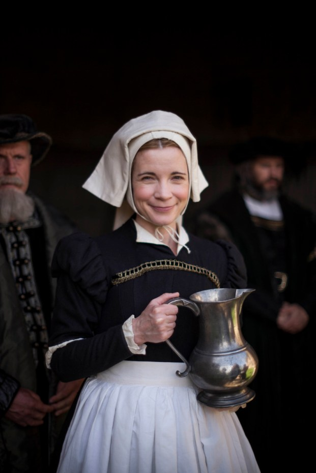 Programme Name: Six Wives with Lucy Worsley - TX: n/a - Episode: n/a (No. n/a) - Picture Shows:  Dr Lucy Worsley - (C) Wall to Wall South Ltd - Photographer: Laurence Cendrowicz
