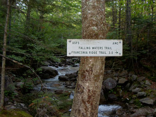 Falling Waters Trail sign.