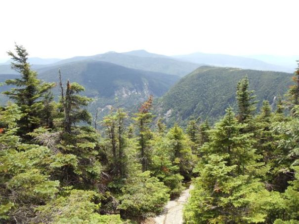 The view of Mahoosuc Notch from Old Speck Mountain.