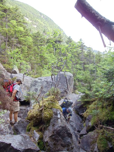 The trail route in Mahoosuc Notch was often open to interpretation.