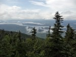 View of Flagstaff Lake from the West Peak of Bigelow Mountain; Maine Appalachian Trail hike