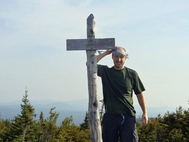 Moxie Bald Mountain summit on the Maine Appalachian Trail hike