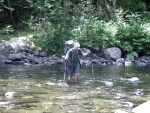 100-Mile Wilderness river crossing on the Maine Appalachian Trail hike