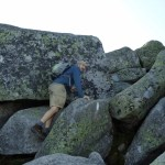 The boulders on Katahdin; Maine Appalachian Trail, also the Hunt Trail