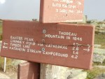 Thoreau Spring sign on Katahdin; Maine Appalachian Trail hike