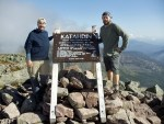 Atop Katahdin, the northern terminus of the Appalachian Trail.
