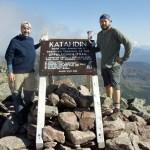 Atop Katahdin, the northern terminus of the Appalachian Trail.