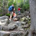Rocky portion of the Winslow Trail on Mt. Kearsarge