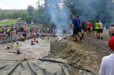 Tough Mudder Boston Fire Walker Obstacle