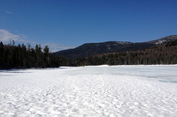 Lonesome Lake Still Frozen