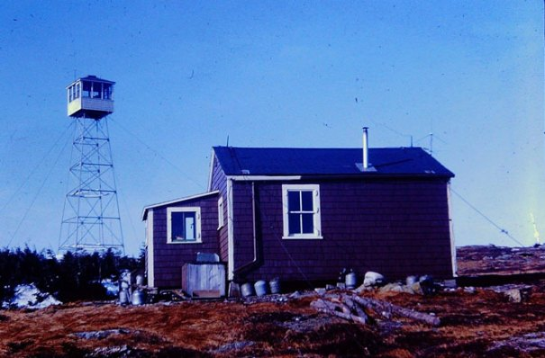 Saddleback Mountain Maine Fire Tower in 1965