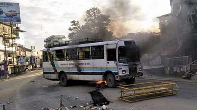 Violence mars Arunachal bandh called by AAPSU