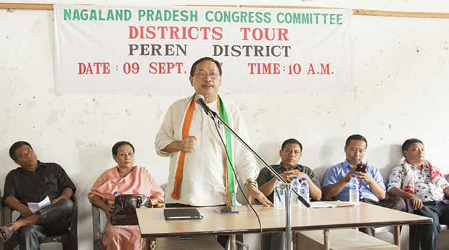 Only Congress can bring change in Nagaland says Therie