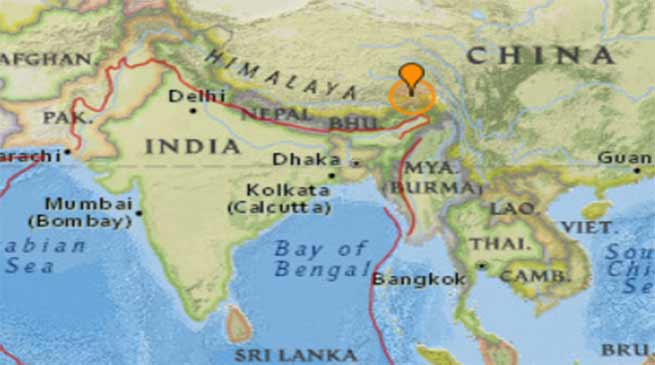 Earthquake ,Arunachal, Tibet