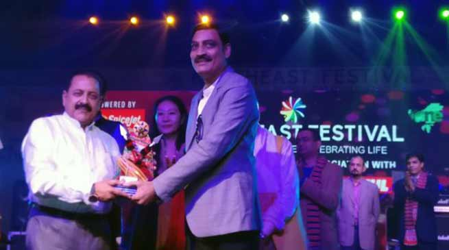 Basant Khetan awarded at North East Festival in New Delhi