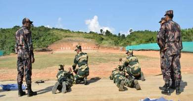 Friendly Weapon Shooting Competition Between BSF and BGB