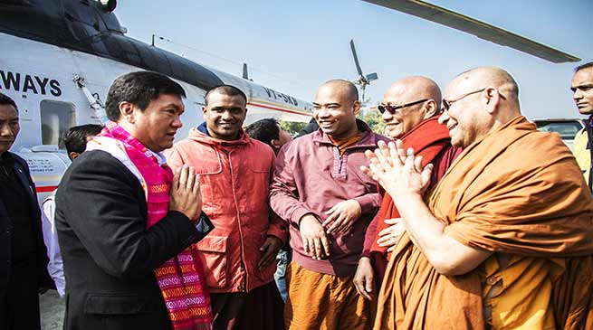 Tripura: Khandu thanked PM Modi for his contribution towards Buddhist community