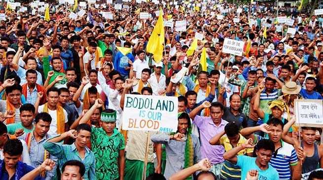 Assam: ABSU organised Peoples Grand Rally demanding Bodoland
