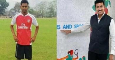 Assam: Rajyavardhan promises to help ailing footballer Sumit Rabha