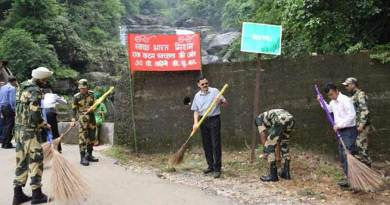 Meghalaya: BSF organises Swachh  Bharat Abhiyan all over state