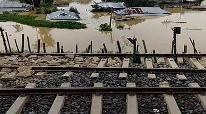 Assam Flood: Fresh Land slides affects train services