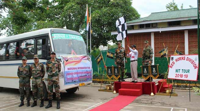 Assam: Red Horns Division organises National Integration Tour