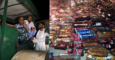 Assam: Minister Excise destroys seized IMFL bottles