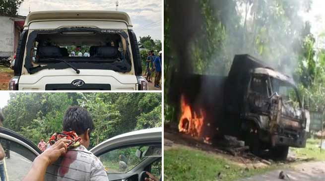 Tripura: Clashes between BJP and IPFT before Panchayat Poll