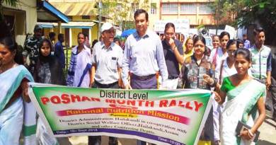Assam: Hailakandi DC flags off POSHAN Abhiyan awareness rally