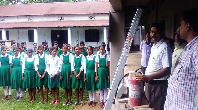 Assam: Rescue, safety techniques demonstrated in schools in Hailakandi