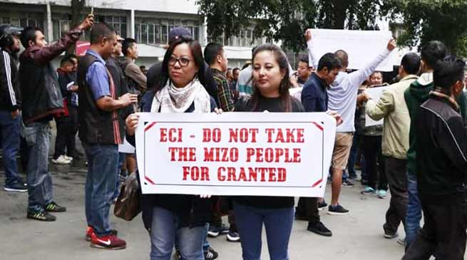 Mizoram: CEO SB Shashank leaves for Delhi,  protests called