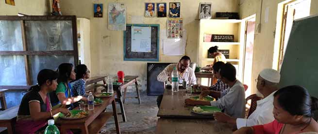 Assam: IAS, IPS officers had Mid-Day Meal with students during Gunotsav II- in Hailakandi
