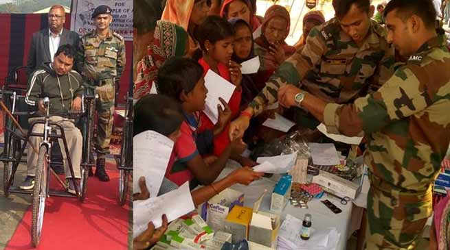 Assam: Army organises Medical Camp at Sipajhar and Kharupetia