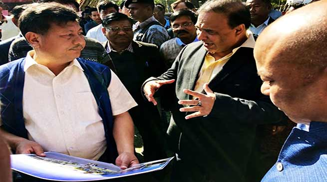 Assam: Himanta inspects site for Kokrajhar Medical College