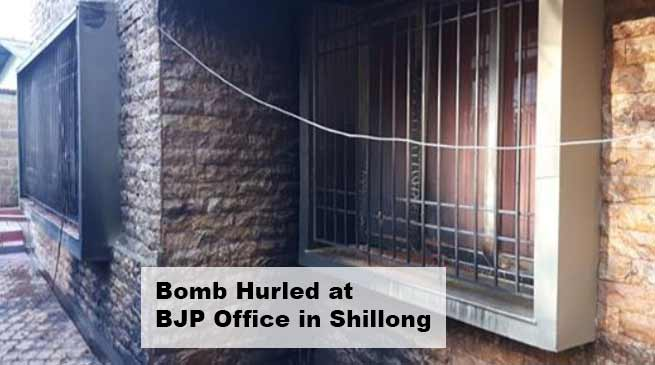 Meghalaya: Bomb Hurled at BJP Office in Shillong