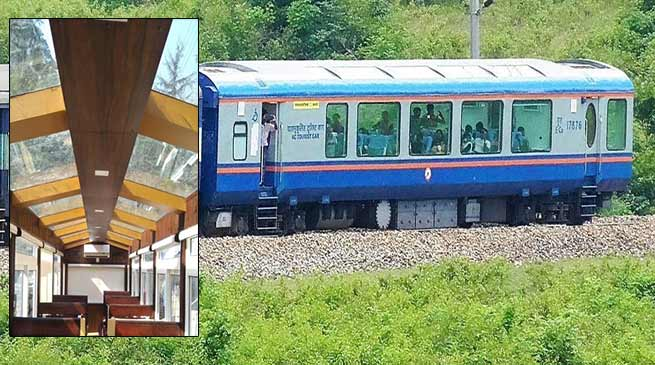 Assam: VISTADOME coaches in tourist routes of NF Railway