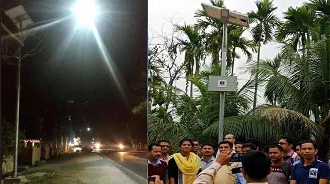 Assam: Gutguti village of Hailakandi illuminated with solar lights