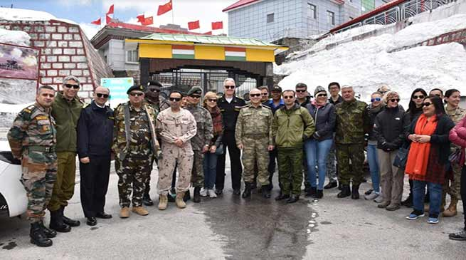 Sikkim: defence attachés visit Nathu La