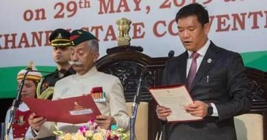 Arunachal Pradesh : Pema Khandu sworn-in as the Chief Minister of the state