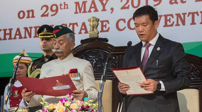 Arunachal Pradesh : Pema Khandu sworn-in as the Chief Minister of the state